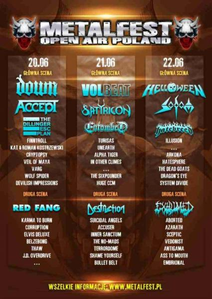 MetalFEst plakat